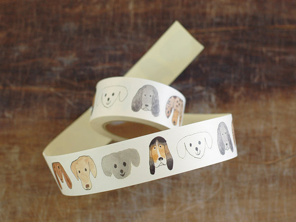 Classiky Sticker Roll - Toranekobonbon 30mm Dog Faces