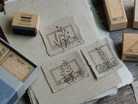 Lihao Paper / Original Stamp Set - Postmark Frame Stamps set of 6