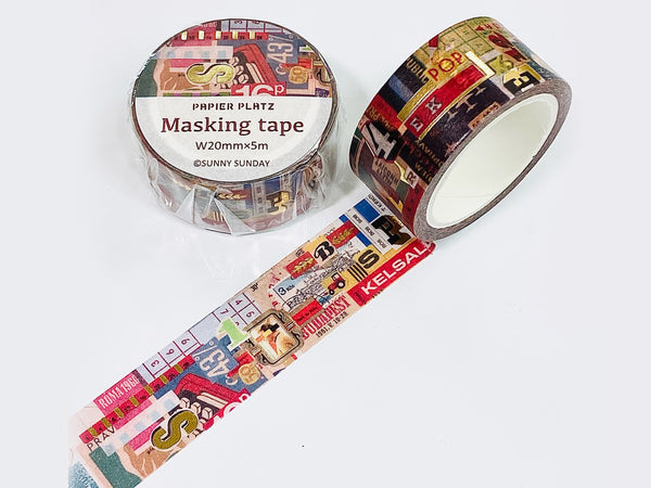 Papier Platz x Sunny Sunday Japanese Washi Masking Tape-Party Time