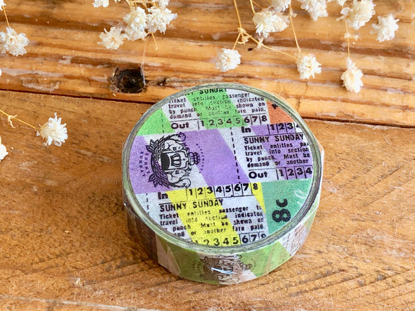 Sunny Sunday Original Washi Masking Tape - Sunny Sunday Shop Ticket