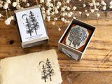 Lihao Paper / Original Metal Stamp - Starry Night Forest Stamp B (02)