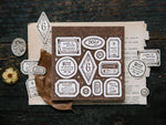 OURS Die-cut Letterpress Label Book / Tags