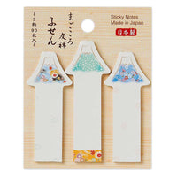 Traditional Japanese Die-cut One Point Sticker / Sticky Stick It index tab - Mountain Fuji