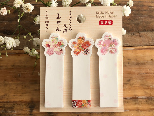 Traditional Japanese Die-cut One Point Sticker / Sticky Stick It index tab - Sakura