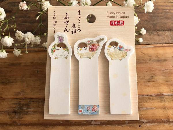 Traditional Japanese Die-cut One Point Sticker / Sticky Stick It index tab - Sparrow