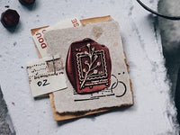 Lihao Paper / Words of Plants Postmark Wax Seal Stamp No.2
