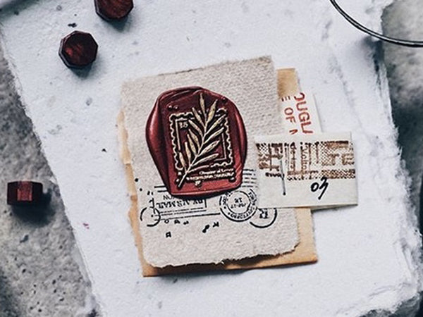 Lihao Paper / Words of Plants Postmark Wax Seal Stamp No.3