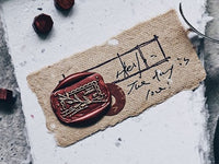 Lihao Paper / Words of Plants Postmark Wax Seal Stamp No.5