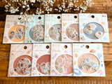 Japanese Washi Masking Stickers / Seal bits - Peach