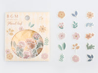 Japanese Washi Masking Stickers / Seal bits - Floral Leaf