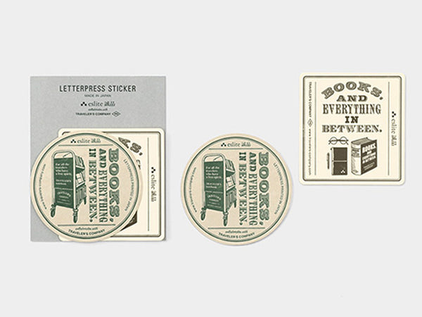 Limited Edition - eslite bookstore × TRAVELER'S COMPANY Customized Letterpress Sticker Set