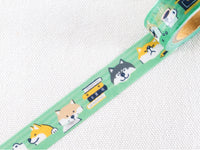 "Japanese Washi Masking Tape / 15mm Shibainu ""Shibanban"""
