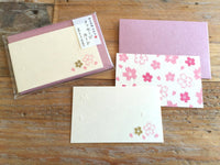 High Quality Letterpress Gold Foil Stamped Washi Mini Gift Message Cards with envelopes