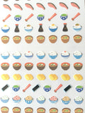 One Point mini tiny Washi Stickers / Seals - Traditional Japanese Design (Japanese Breakfast)