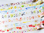 Japanese Washi Masking Tapes - Taiwan Illustrator Series (Little Path x Liang Feng) No.1-6