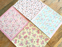Sanrio Chiyogami / Origami Paper Set of 20 Sheets (4 Designs x 5 each), 15 x 15cm, Hello Kitty, My Melody, Shinkaizoku at your choice