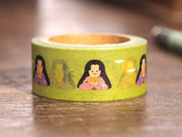 Japanese Washi Masking Tape - Folk Tales Series -Kaguyahime (Moon Princess) 18mm wide for packaging, party deco, crafting