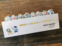 Sticky Index Tabs / One Point Sticker / Markers - Working Nyako (Working cats)