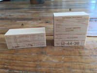 Japanese Wooden Rubber Stamps - Vintage / Antique Ticket Stamps