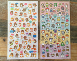 "Sheet of Stickers - ""Fox & Raccon"" and ""A Year of Cats"""