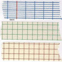 Classiky Grid Japanese Washi Tapes - Blue, Green and Brown Grid 45mm