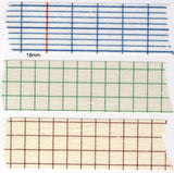 Classiky Grid Japanese Washi Tapes - Blue, Green and Brown Grid, 12mm and 18mm wide at your choice