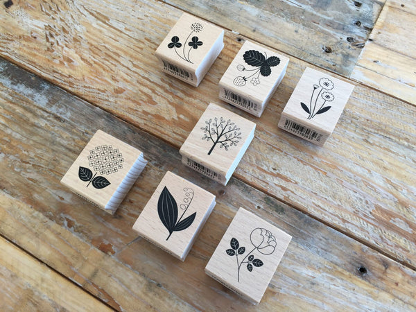 Japanese Botanical Garden Wooden Rubber Stamps