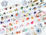 Japanese Washi Masking Tapes - Taiwan Illustrator Series (Little Path x Liang Feng) Watercolor Encyclopedia