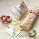 "Japanese Washi Masking Tape set of 2 - ""week and stripe"" for Journaling, Hobonichi Planner deco, scrapbooking, packaging"