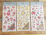 Sanrio pastel color Masking Sticker Sheet- My Melody, Pom, pom pom pudding and Hello Kitty