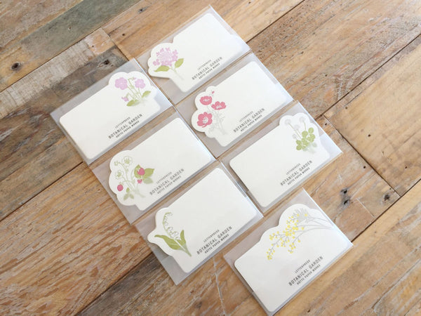 High Quality Letterpressed Washi Flora Mini Message Cards