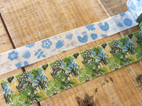 MT ex 2017 - Japanese Washi Masking Tapes - Birds & Plants  (High Summer) by Almedahls