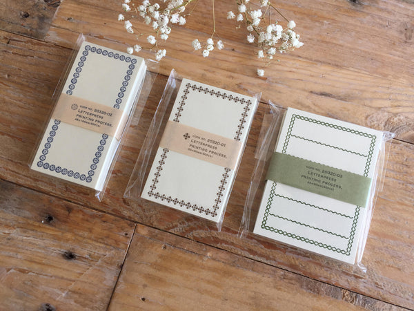 High Quality Letterpress Washi Mini Gift Message Cards