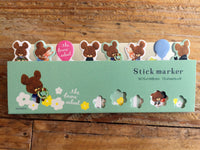 "Sticky Index Tabs/ One Point Sticker-""Kuma no Gakkou"" (The Bears' School)"