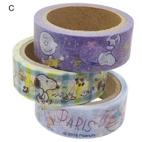 Disney Paper Deco Tape Set of 3 / Toys Story and Snoopy