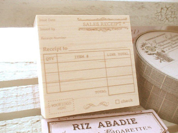Japanese Wooden Rubber Stamps - Vintage / Antique Style Receipt Stamp
