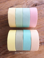 mt 2017 - Solid Pastel color Japanese Washi Masking Tapes at your choice