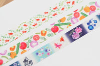 MT ex 2017 Summer Collection Japanese Washi Masking Tape - Goldfish, Yukata, Veggies