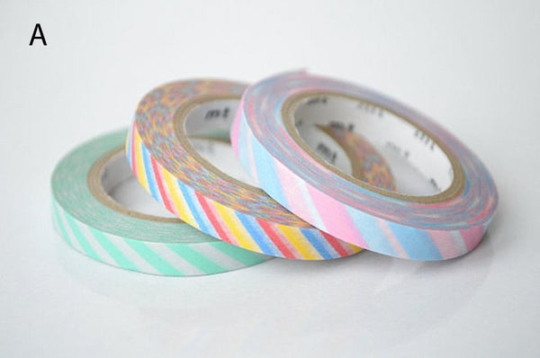 mt 2012 - Japanese Washi Masking Tapes / 6mm Slim Twist Cord (set of 3)