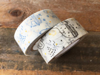 Japanese Washi Masking Tape - Starry sky Blue or Black at your choice for journaling, packaging, scrapbooking
