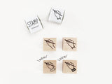 KNOOP Original Rubber Stamps - Writing Hands at your choice
