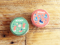 Moomin and friends Series Japanese Washi Masking Tapes / Wasabi Green & Salmon Pink