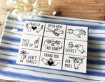 KNOOP Original Rubber Stamps - Messages at your choice