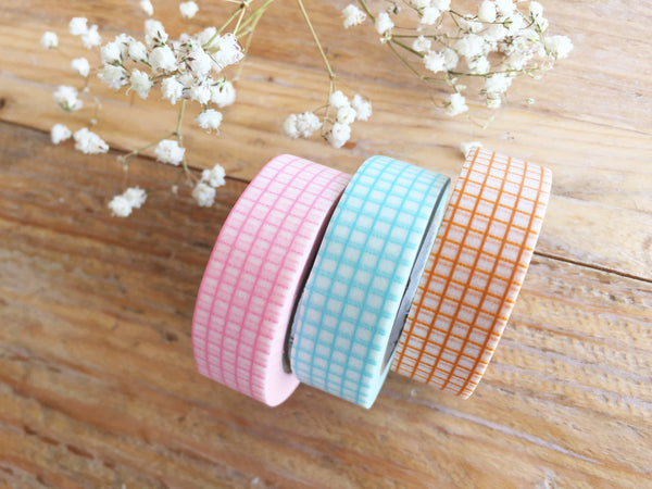 MT 2017 - Japanese Washi Masking Tapes / Pastel Color Grids