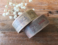 Vintage Style Japanese Masking Tape - Vintage Bus Tickets