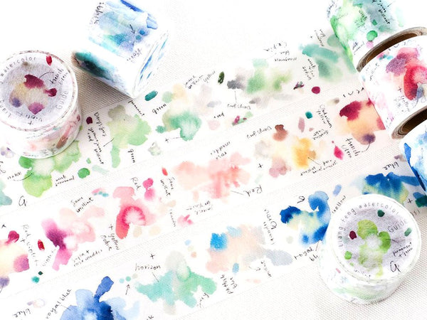 Japanese Washi Masking Tapes - Taiwan Illustrator Series (Little Path x Liang Feng) Watercolor Lab