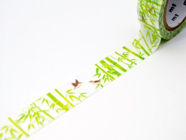 Limited Edition mt Japanese Washi Masking Tape - Bamboo and sparrow
