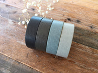 Solid Color Gray Series Japanese Washi Masking Tape Set of 4 (15mm Long, 50% more)