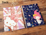 Hello Kitty or Melody 6 Pockets + 1 Zip Pocket A4 Size Clear File Holder / Folder