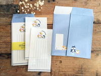 Japanese Mini Letter Set / Writing Paper with Envelope - Shibanban Shibainu